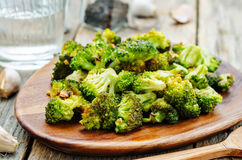 Roasted broccoli with garlic Royalty Free Stock Photo