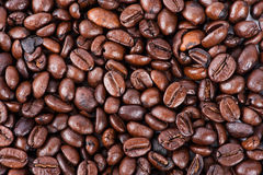 Roasted brown coffee beans royalty free stock photo