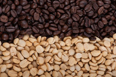 Roasted brown coffee beans stock photos