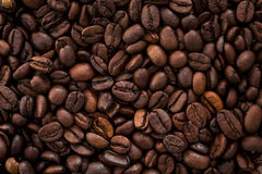 Roasted brown coffee beans. Texture Royalty Free Stock Images