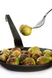 Roasted brussels sprouts Royalty Free Stock Image