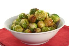 Roasted brussels sprouts Stock Images