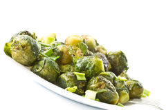 Roasted brussels sprouts Royalty Free Stock Photography