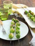 Roasted Brussels sprouts Stock Image
