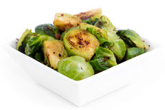 Roasted brussels sprouts with bacon Royalty Free Stock Image