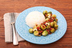 Roasted brussels sprouts Stock Photos