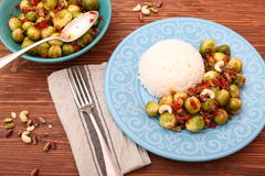 Roasted brussels sprouts Stock Photography