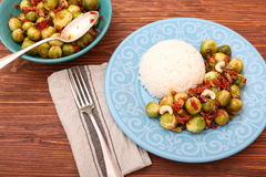 Roasted brussels sprouts Royalty Free Stock Images