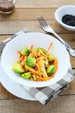Roasted brussels sprouts with carrots Royalty Free Stock Image