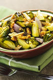 Roasted brussels sprouts dish Royalty Free Stock Images