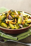 Roasted brussels sprouts dish Royalty Free Stock Photos