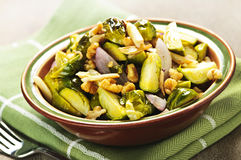 Roasted brussels sprouts dish Royalty Free Stock Photography