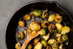 Roasted brussles sprouts Stock Photography
