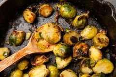 Roasted brussles sprouts Royalty Free Stock Photos
