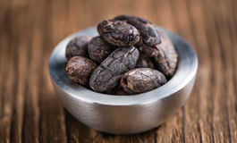 Roasted Cacao Beans Royalty Free Stock Images