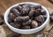 Roasted Cacao Beans Royalty Free Stock Photography