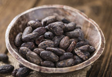 Roasted Cacao Beans stock photography