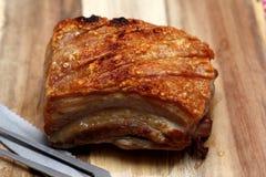 Roasted carameled a barriga de carne de porco Fotos de Stock Royalty Free