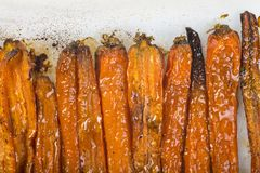 Roasted carrots and onions Royalty Free Stock Photography