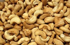 Roasted Cashew Nuts Royalty Free Stock Images