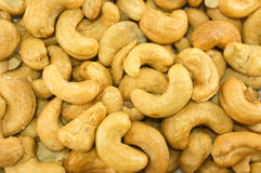 Roasted cashew nuts with salt Royalty Free Stock Photography