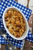 Roasted Cauliflower. In the baking dish Stock Photos