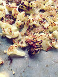 Roasted cauliflower with copy space Stock Image