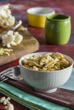 Roasted cauliflower with onions. Delicious and crispy Stock Images