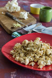 Roasted cauliflower with onions. Delicious and crispy Royalty Free Stock Photo