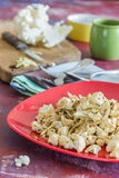 Roasted cauliflower with onions. Delicious and crispy Royalty Free Stock Photos