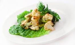 Roasted Cauliflower plate Stock Photos