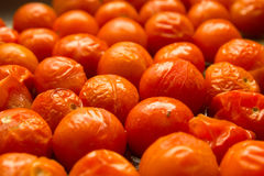 Roast Cherry Tomatoes. Roasted cherry tomatoes in oil Royalty Free Stock Images