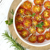 Roasted Cherry Tomatoes Top View Royalty Free Stock Photography