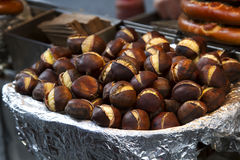 Roasted chestnut Stock Image