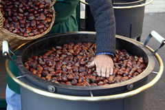 Roasted chestnuts Royalty Free Stock Photos