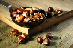 Roasted chestnuts. Stock Photos