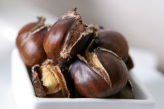 Roasted chestnuts Stock Image