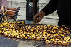 Roasted chestnuts Royalty Free Stock Images