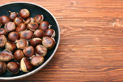Roasted chestnuts cooked Stock Photography