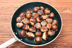 Roasted chestnuts cooked Royalty Free Stock Image