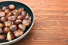 Roasted chestnuts cooked Royalty Free Stock Photography