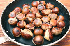 Roasted chestnuts cooked Stock Image