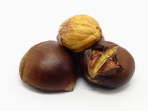 Roasted chestnuts with excluded seed Stock Photography