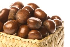 Roasted Chestnuts Isolated Royalty Free Stock Photography