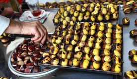 Roasted chestnuts in Istanbul Stock Photography