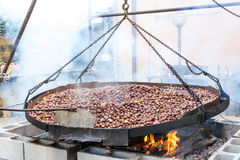 Roasted chestnuts Stock Photos