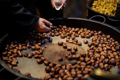 Roasted chestnuts ready to eat Royalty Free Stock Photo