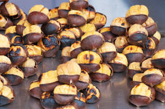 Roasted chestnuts stock images