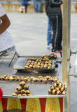 Roasted chestnuts in street cart, Istanbul, Stock Images