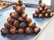 Chestnuts street food in Turkey royalty free stock photography